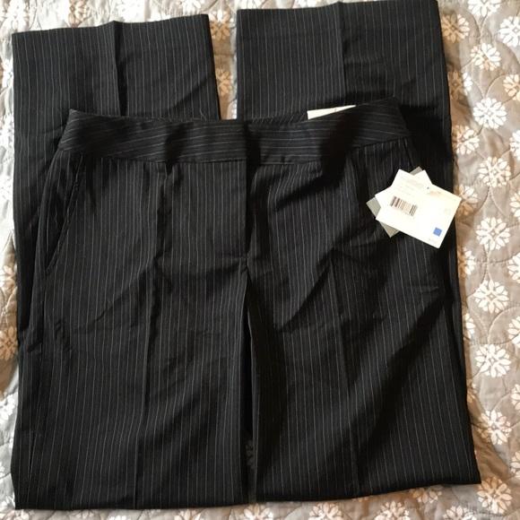 accb7912139 NWT Liz Claiborne Black pinstripe pants